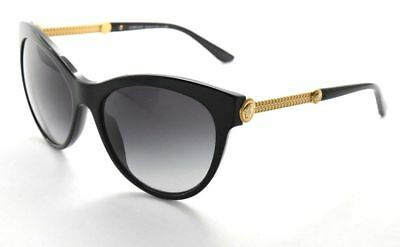 22c96927ccf4 Versace 4232 GB1 8G 57-17-140 Black   Grey Gradient Butterfly Sunglasses