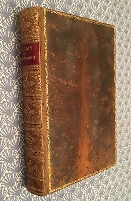 Poems Of Robert Browning Fine Leather Binding 1913