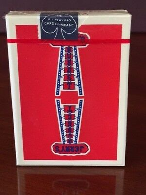 Vintage Jerry's Nugget Casino playing cards RED Authentic and SEALED!
