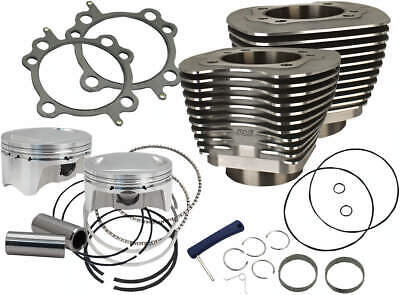 "S&S Cycle 910-0500 Cylinder & Piston 107"" Big Bore Kit Harley 07-'17 Twin Cam"