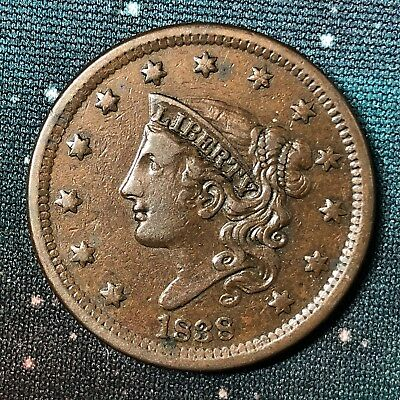 1838 Coronet Head Large Cent N-10