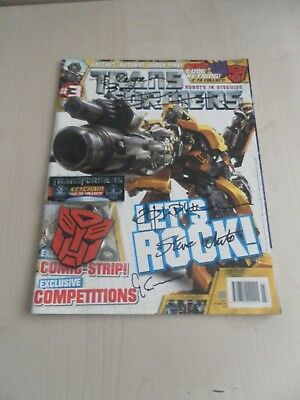 Transformers magazine issue 3 2007 signed by the production team