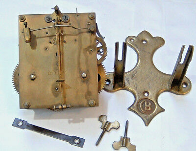 German Black Forest Badische Uhrenfabrik Wall Clock Movement for Repair Parts