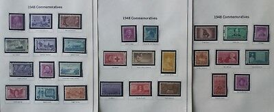 United States Year 1948 to 1951 COMMEMORATIVE SET of 49 STAMPS MNH