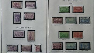 United States Year 1935 to 1939 COMMEMORATIVE SET of 37 STAMPS MNH
