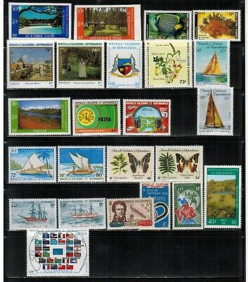 Lot of New Caledonia Year 1985 to 1987 Stamps MNH