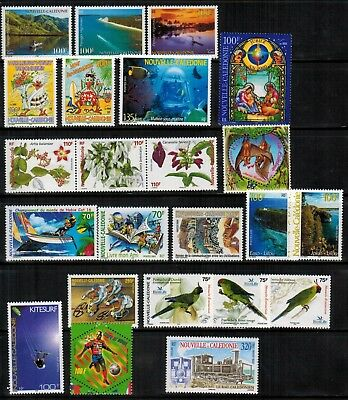 Lot of New Caledonia Year 2000 to 2004 Stamps MNH