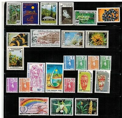 Lot of New Caledonia Year 1982 to 1985 Stamps MNH
