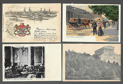 German  Postcars Vintage Lot Of 4 From 1902 #4