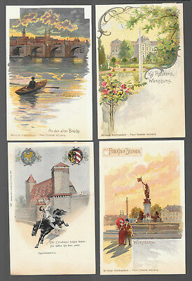 German  Postcars Vintage Lot Of 4 From 1899 -1902  #14