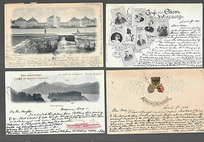 German  Postcars Vintage Lot Of 4 From 1899 -1902  #15