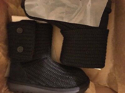 98193776b73 LITTLE GIRL SIZE 11 US UGG CARDY KNIT BOOTS BLACK
