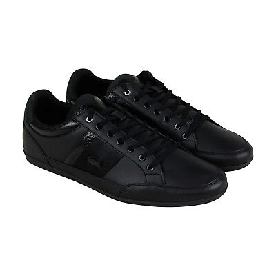 2ed6476f59 LACOSTE CHAYMON 119 2 Cma Mens Black Leather Lace Up Sneakers Shoes ...