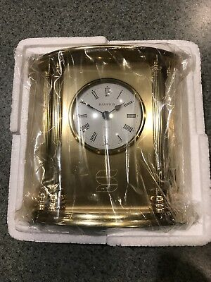 New Brass Hampton Desk Clock **NICE**