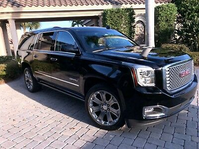 "2016 GMC Yukon XL Denali 2016 GMC Yukon XL Denali-22"" Wheels-Retract Running Bds-Lane Depart-Blind Spot"