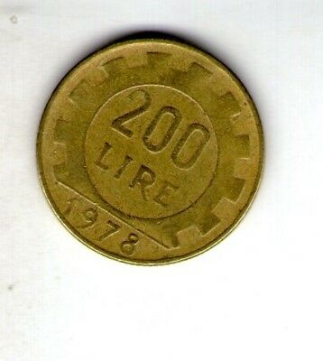 1978 Italy 200L coin