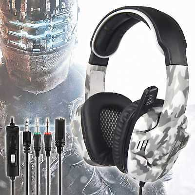 SADES SA-708 GT Gaming Headset Camo Surround Headphone for PS4 Xbox One PC w Mic