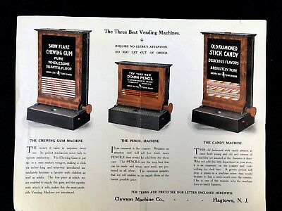 Vending Clawson Machine Company Advertising Original