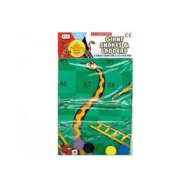 Giant Snakes And Ladders Game Great Family Fun Game Suitable For 2 4 Players NEW
