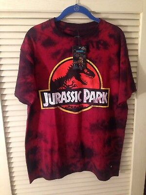 Men's Jurassic Park Distressed Logo T-Shirt Sz. Large