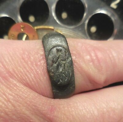 Ancient Roman Ring, Hermes with Animal Husbandry! Ex Donald Jackson Collection