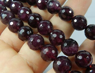 """New 6mm Garnet Gems Faceted Round Loose Beads 15"""" Strand AAAQ"""