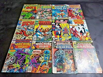 Nice LOT OF 12 Bronze Age And Up Comic Books USED