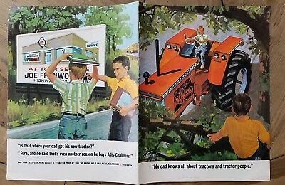 1963 Allis Chalmers tractor 8 page catalog brochure advertising
