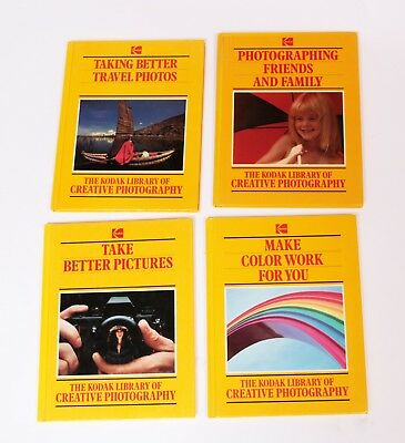The Kodak Library of Creative Photography HC 4 Books See List - Great Condition