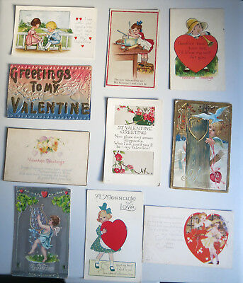Vintage Postcards Valentines early 1900's