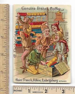 GENUINE FRANCK COFFEE Substitute Germany 6 Elves Packing Coffee Sub. Trade Card