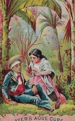 Victorian Trade Card - Ayer's Ague Cure, Dr. J. C. Ayer & Co., Lowell, Mass.