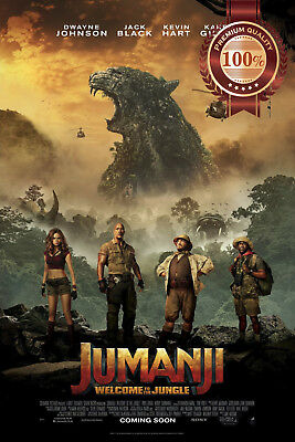 New Jumanji : Welcome To The Jungle Original Cinema Movie Print Premium Poster