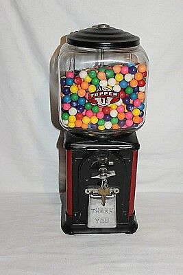 Vintage Victor Topper Gumball Vending Machine 1950's Early Antique with Key