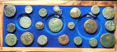 Lot of 21 Fine to VF Ancient Greek Coins: Largest 20 mm, Great Variety!