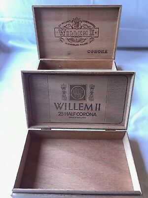 2 x Willem II Cigar Boxes