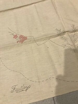 FAUTLEYS Vintage Transfer printed embroidery Design Apron AS IS