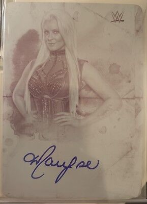 2018 Topps WWE undisputed Maryse 1/1 Printing Plate Auto One Of One