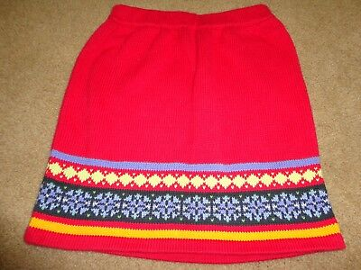 Hanna Andersson red sweater skirt Girls size 130 (8)