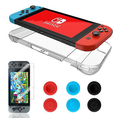 Switch Accessories Bundle, Case for Nintendo Switch Console, Tempered Glass