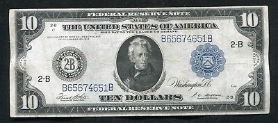 FR. 911c 1914 $10 TEN DOLLARS FRN FEDERAL RESERVE NOTE NEW YORK, NY VERY FINE+