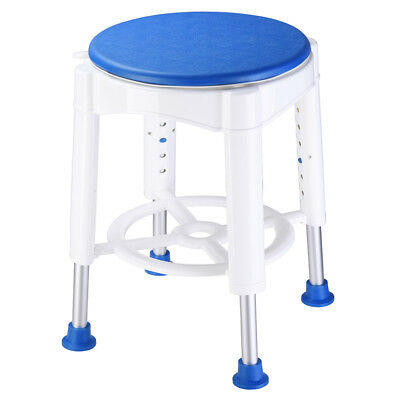 "14"" Medical Bath Stool Safety Shower Swivel Chair with Rotating Seat Adjustable"