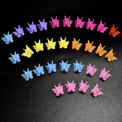 20Pcs Kids Girl Multi Colors Mini Small Plastic Butterfly Shap Hair Clips Clamp