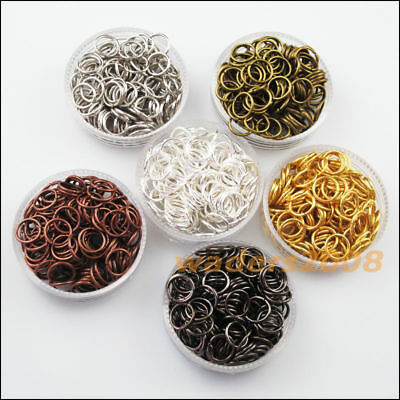 4mm 5mm 6mm 8mm 10mm 12mm Jump Rings Open Connectors  For DIY Jewelry Making