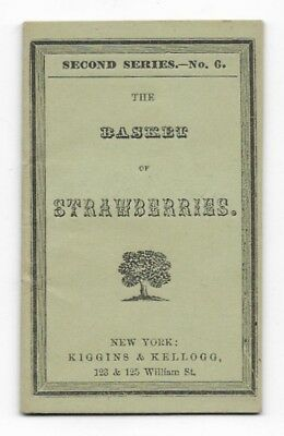 THE BASKET OF STRAWBERRIES Antique MINIATURE CHAPBOOK Illustrated Children's