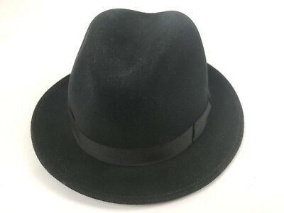 396b713cfd2 BAILEY OF HOLLYWOOD Black Derby Hat 100% Wool Size Large Brand New ...