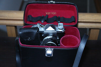 Nikon F 35mm SLR with 50mm, 80-200, beautiful case and more