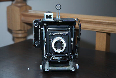 Graflex (Baby) Century Graphic with a 35mm back and a 103mm f/4.5 lens