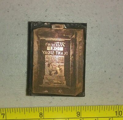 Vintage Letterpress Printing Block Andrew Wilson's Plant Spray Bug Killer Can