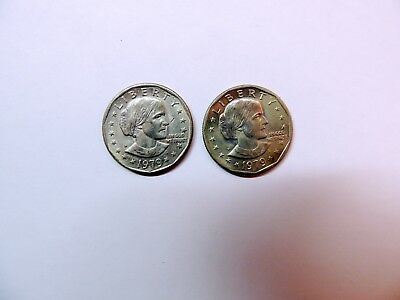 1979 Susan B. Anthony Dollars - Lot of 2 - Circulated